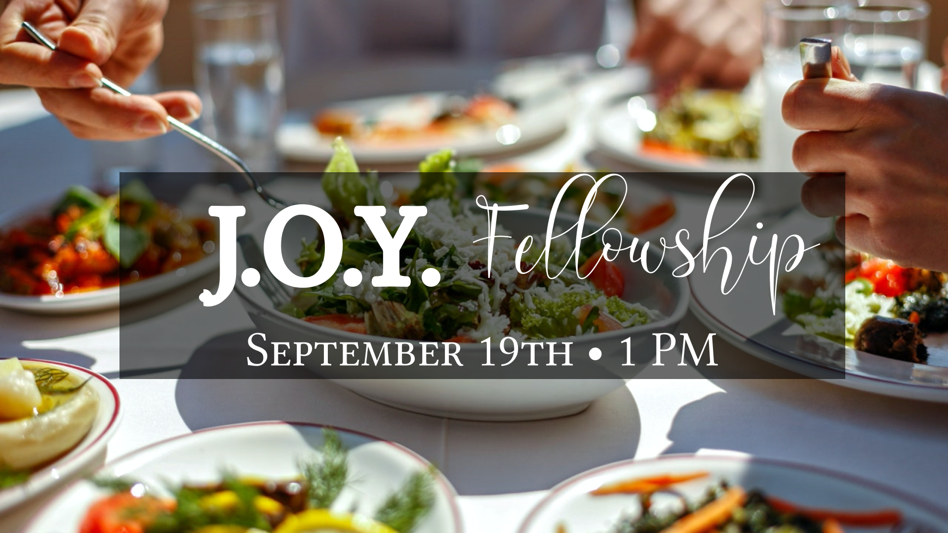 J.O.Y. Group Fellowship - 1pm